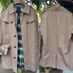 Brooks Brothers Mid Length Cotton Trench Sz XL